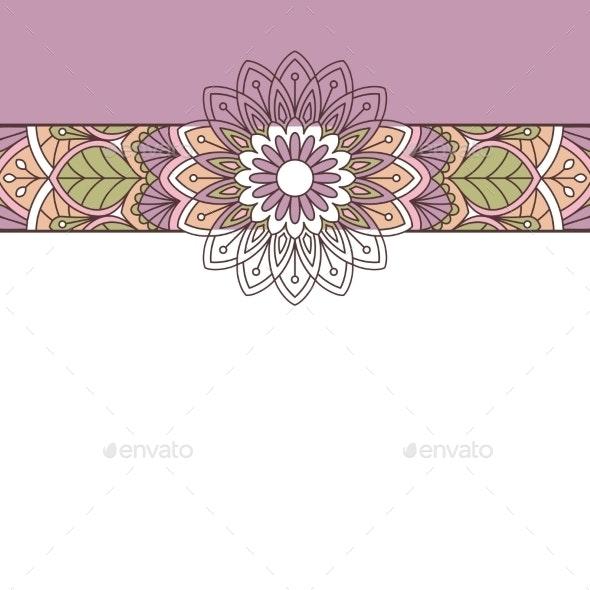 Floral Oriental Pattern. - Borders Decorative