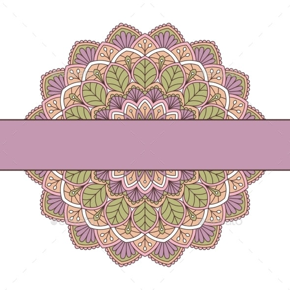 Floral Oriental Pattern. - Borders Decorative