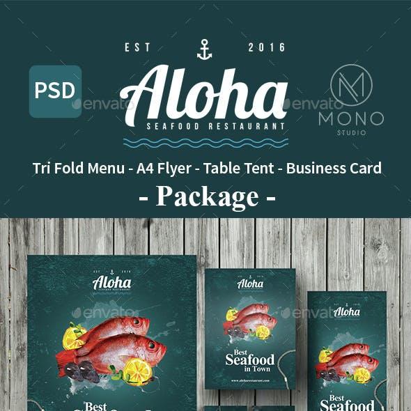 Seafood Menu Package