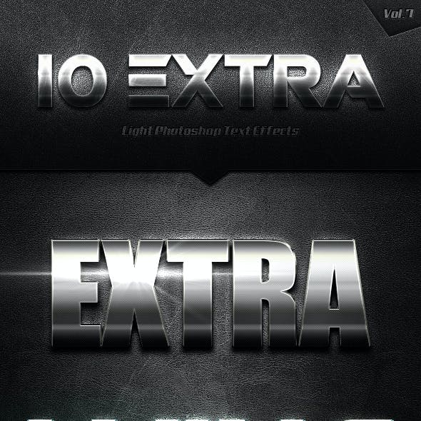 10 Extra Light Text Effects Vol.7