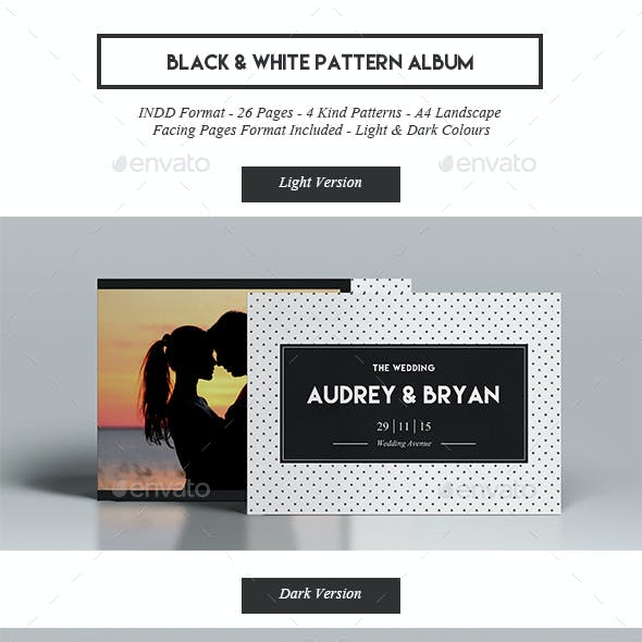 Black & White Pattern Album
