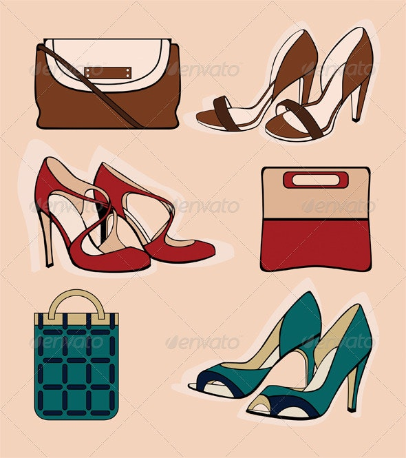 Three Pair of Shoes - Man-made Objects Objects