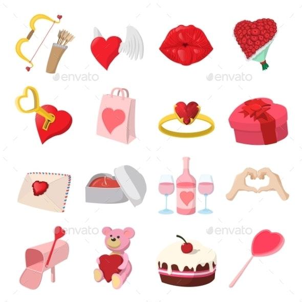 Love Cartoon Icons Set - Miscellaneous Icons