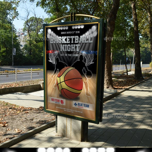 Basketball Game Poster Template 10