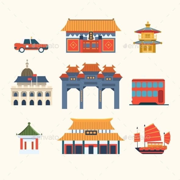 Traditional Chinese Buildings Hong Kong Travel