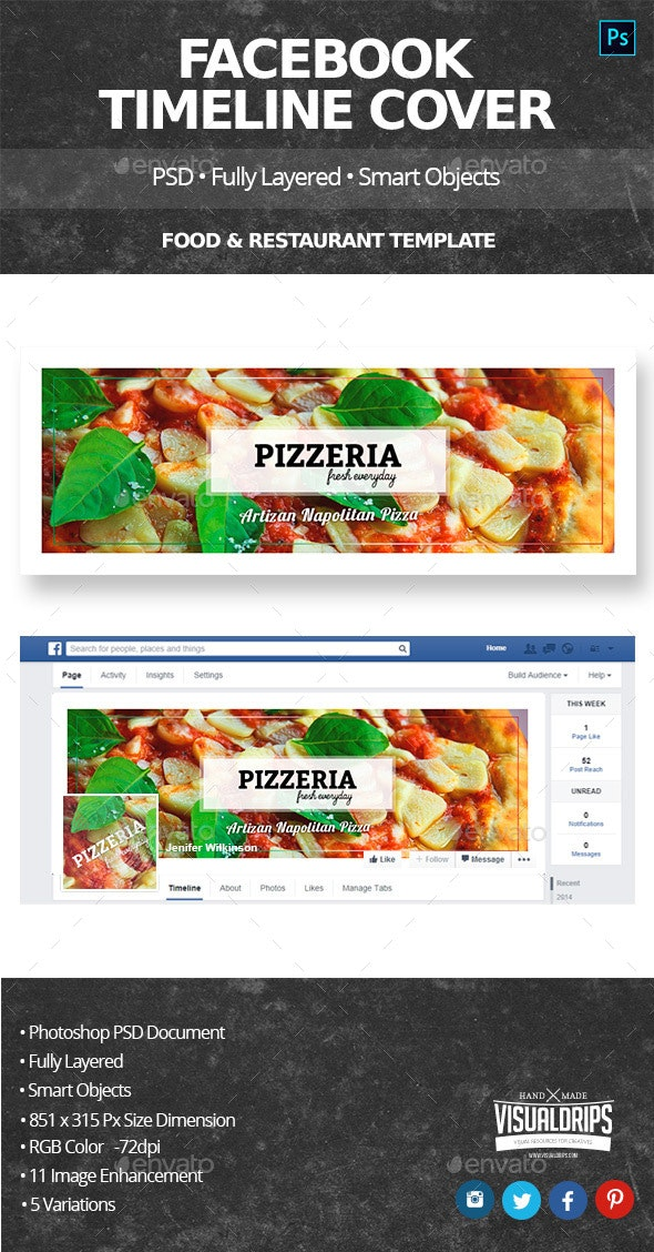 Food & Restaurant Facebook Cover - Facebook Timeline Covers Social Media