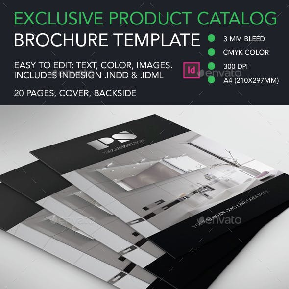 Exclusive Sophisticated Product Brochure Catalog