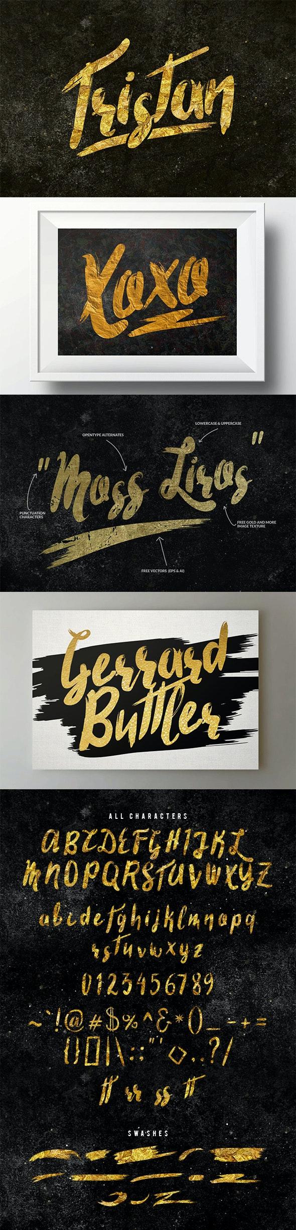Tristan Brush Font - Grunge Decorative