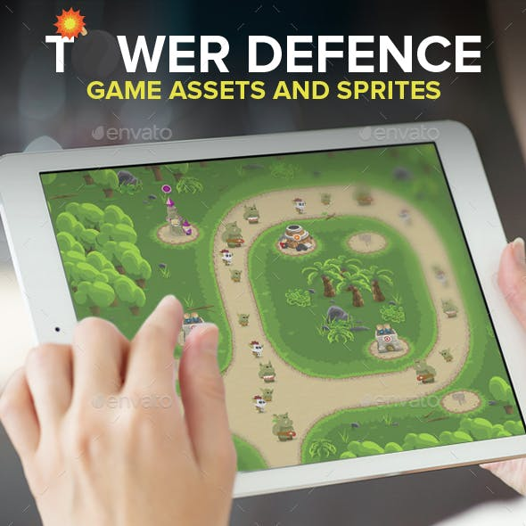 Tower Defence Game assets And Sprites