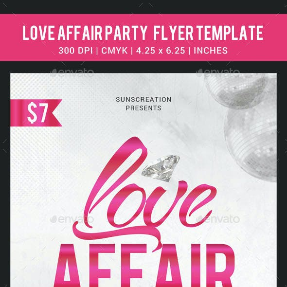 Love Affair Party Flyer Template
