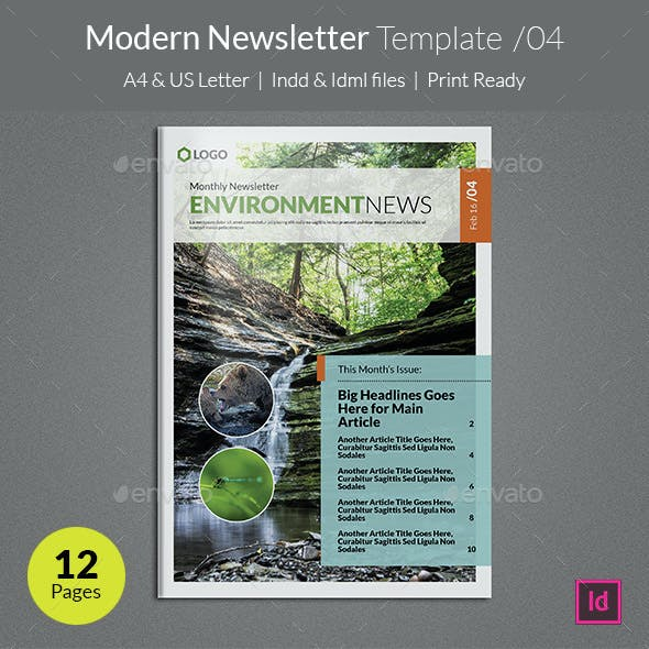 Modern Newsletter Template v04