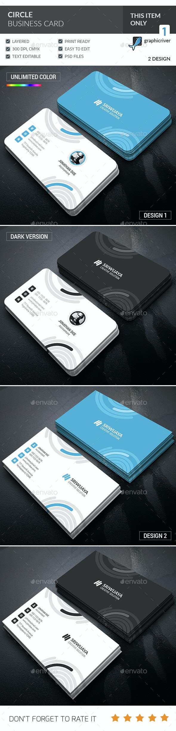 Circle Business Card  - Corporate Business Cards