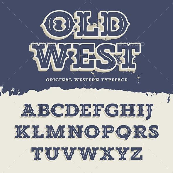 Old West Font - Decorative Symbols Decorative