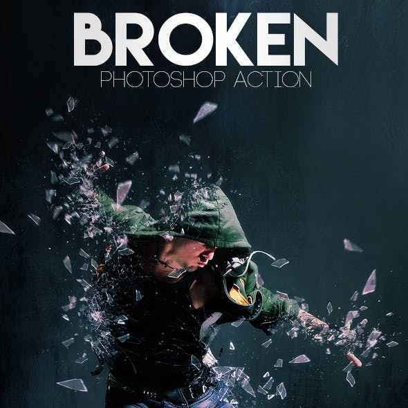 Broken Photoshop Action