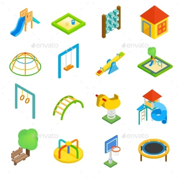 Playground Isometric 3d Icons