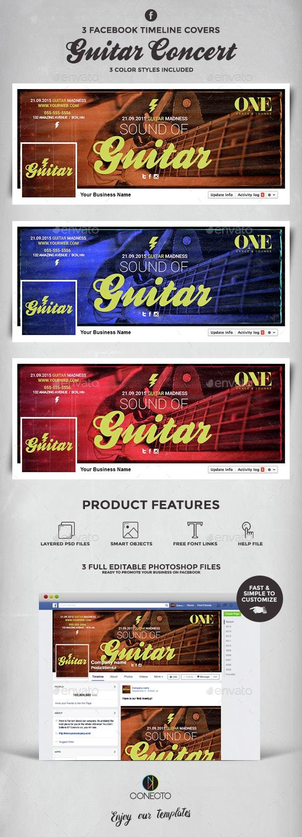 Facebook Timeline Cover - Guitar Concert
