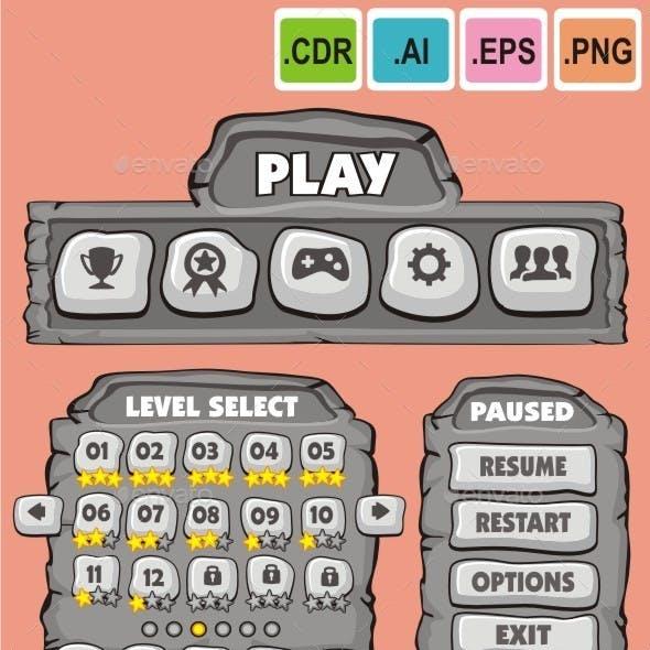 cartoon game gui pack 6