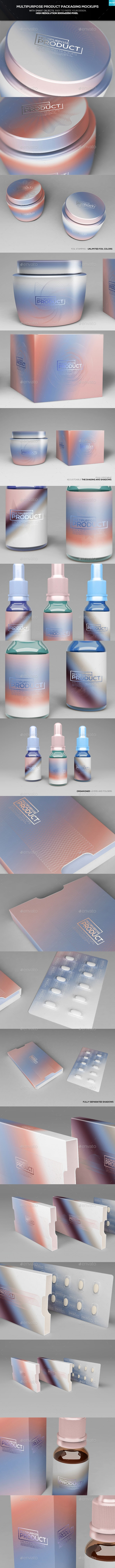 Multipurpose Product Packaging Mockups - Miscellaneous Packaging