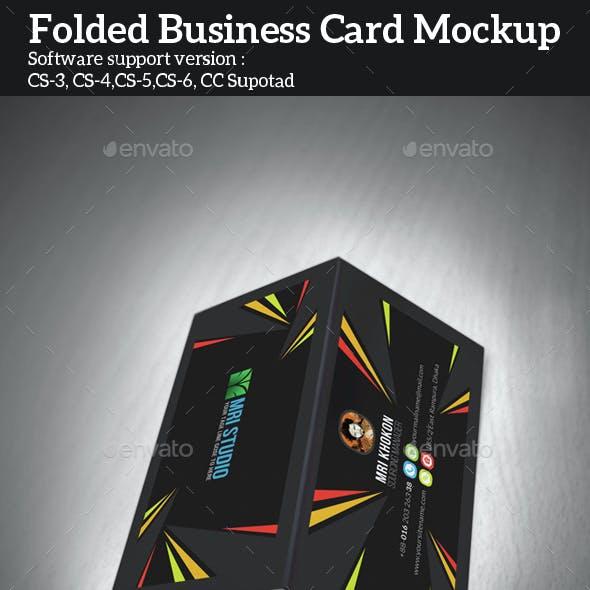 Folded Business Card Mock-ups