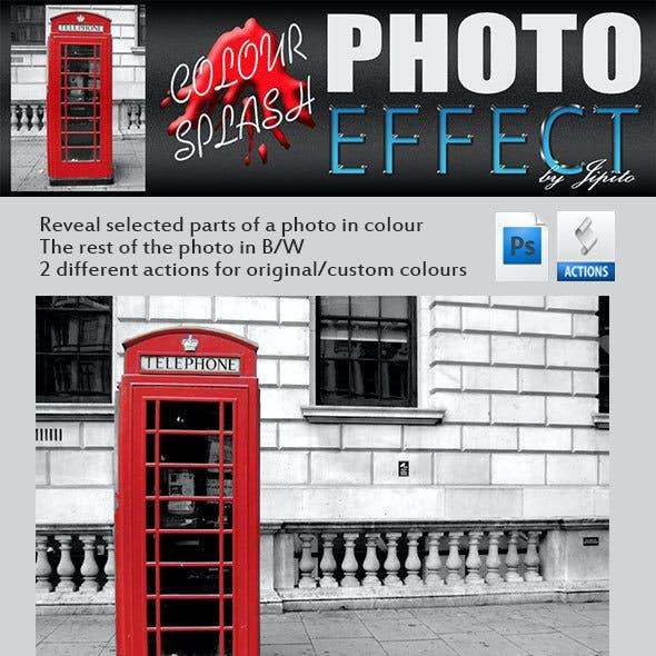 Colour Splash Photoshop Effect