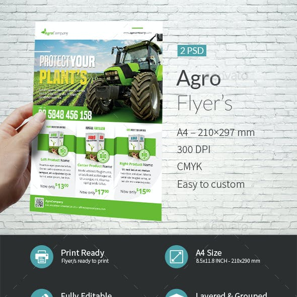 Agro A4 Flyer Template