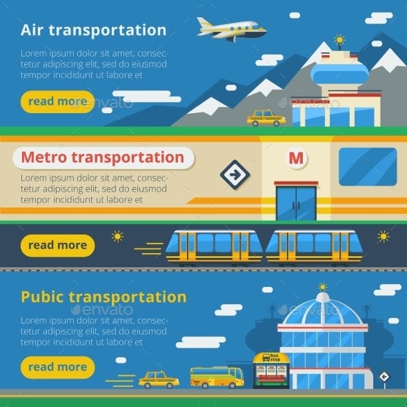 Passenger Transportation Horizontal Banners