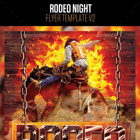Rodeo Night Flyer Template v2