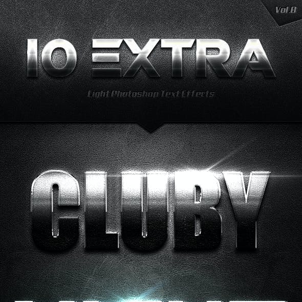 10 Extra Light Text Effects Vol.8