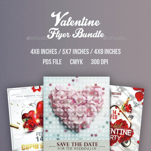 Valentine Flyer/Poster Bundle Vol.3