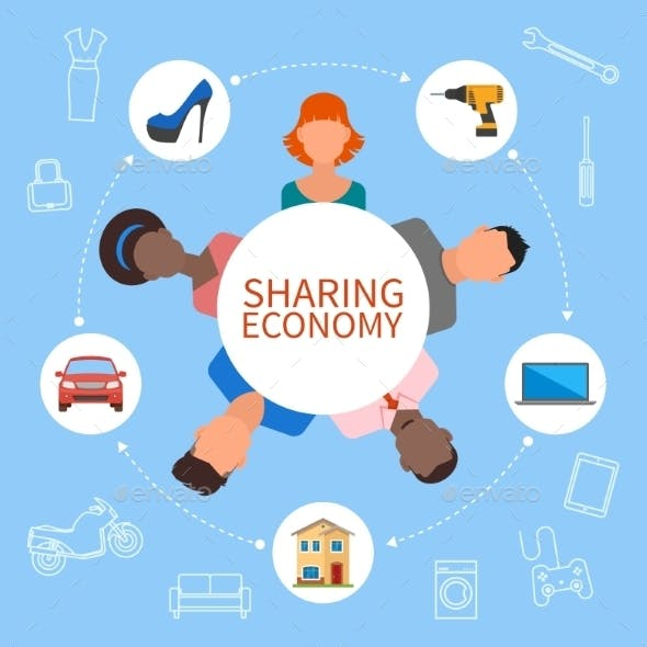 Sharing Economy And Smart Consumption Concept