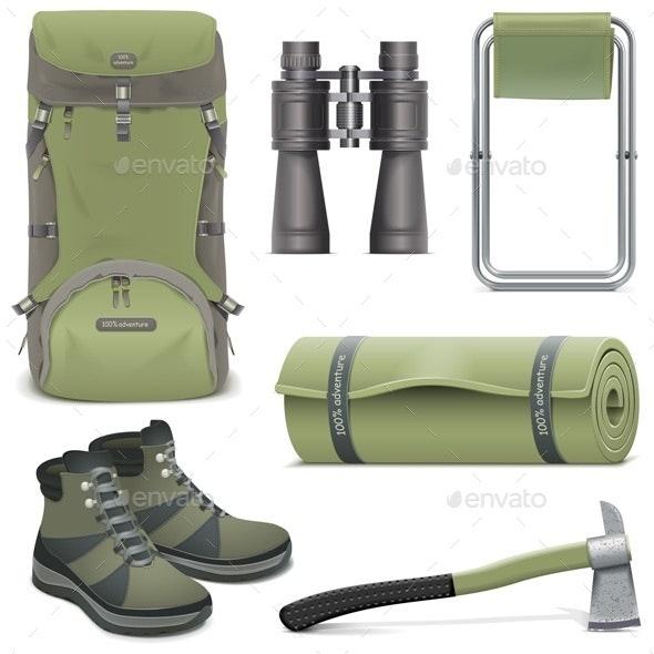 Vector Camping Icons Set 2 - Travel Conceptual