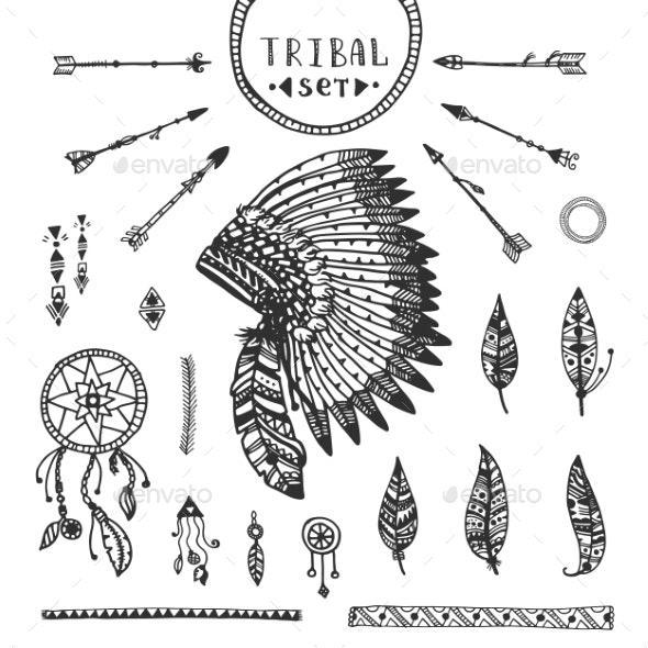 Tribal Vector Elements Collection - Decorative Symbols Decorative