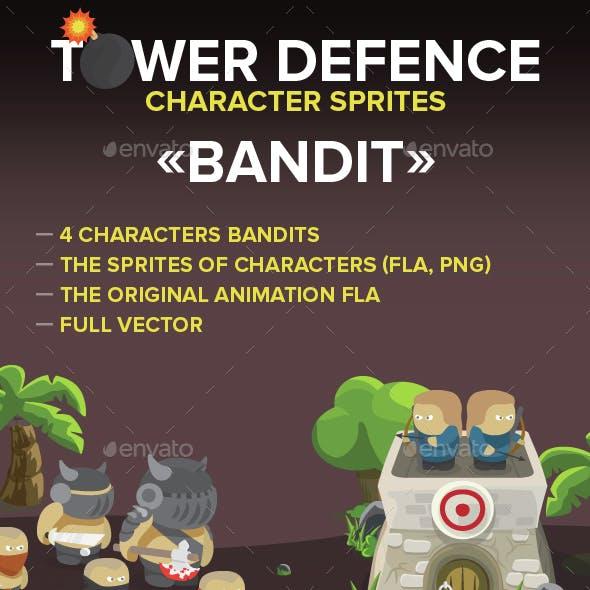 4 Game bandit character