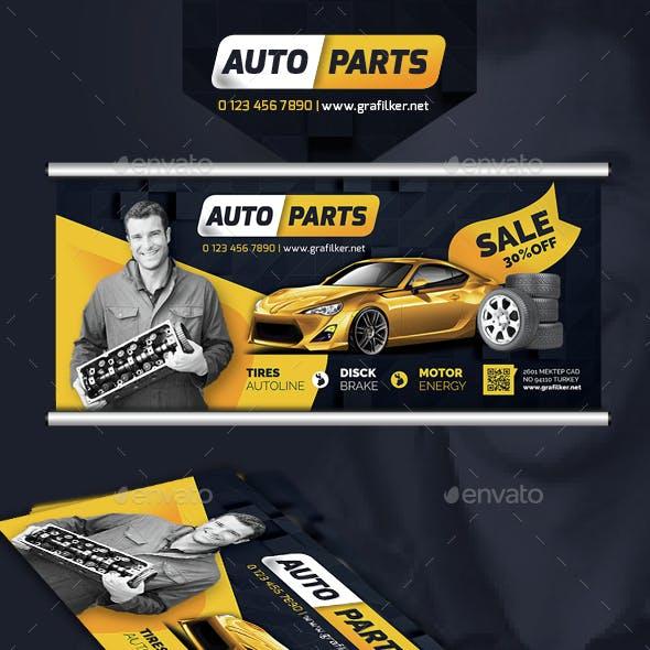 Auto Spare Parts Billboard Templates