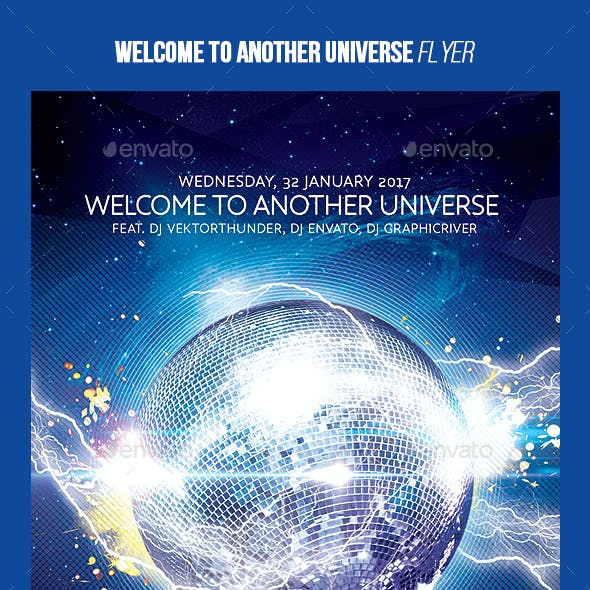 Welcome to Another Universe Party flyer