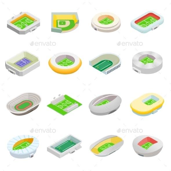 Stadium Isometric 3d Icons