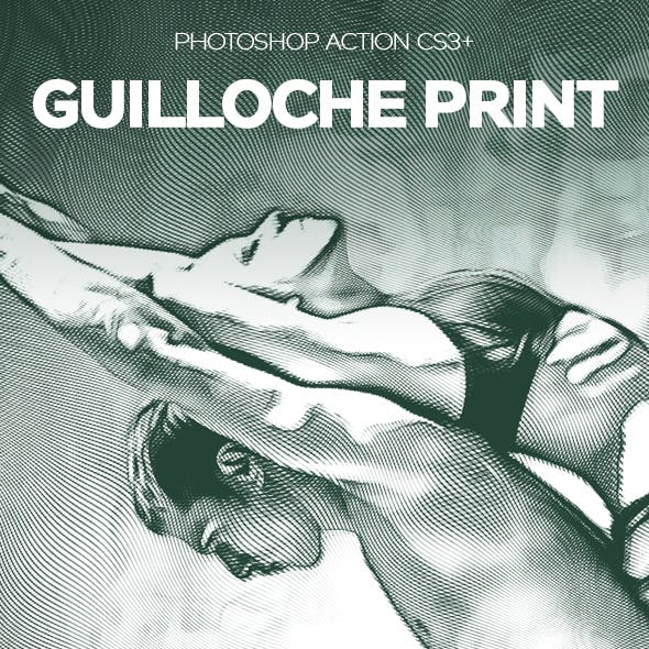Guilloche Print Photoshop Effect