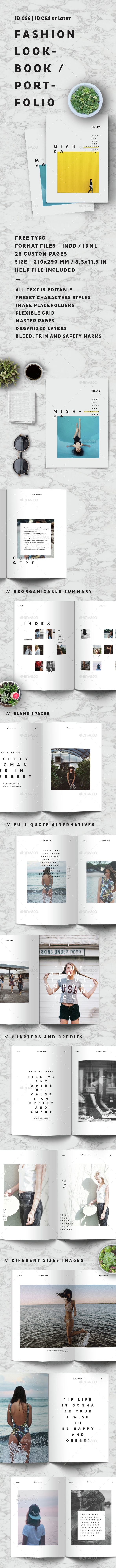 Fashion Lookbook / Portfolio - Brochures Print Templates