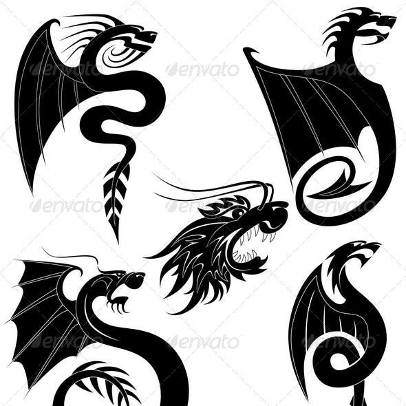 Black dragons tattoo