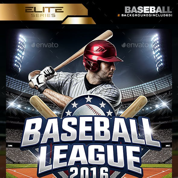 Baseball League Flyer Template