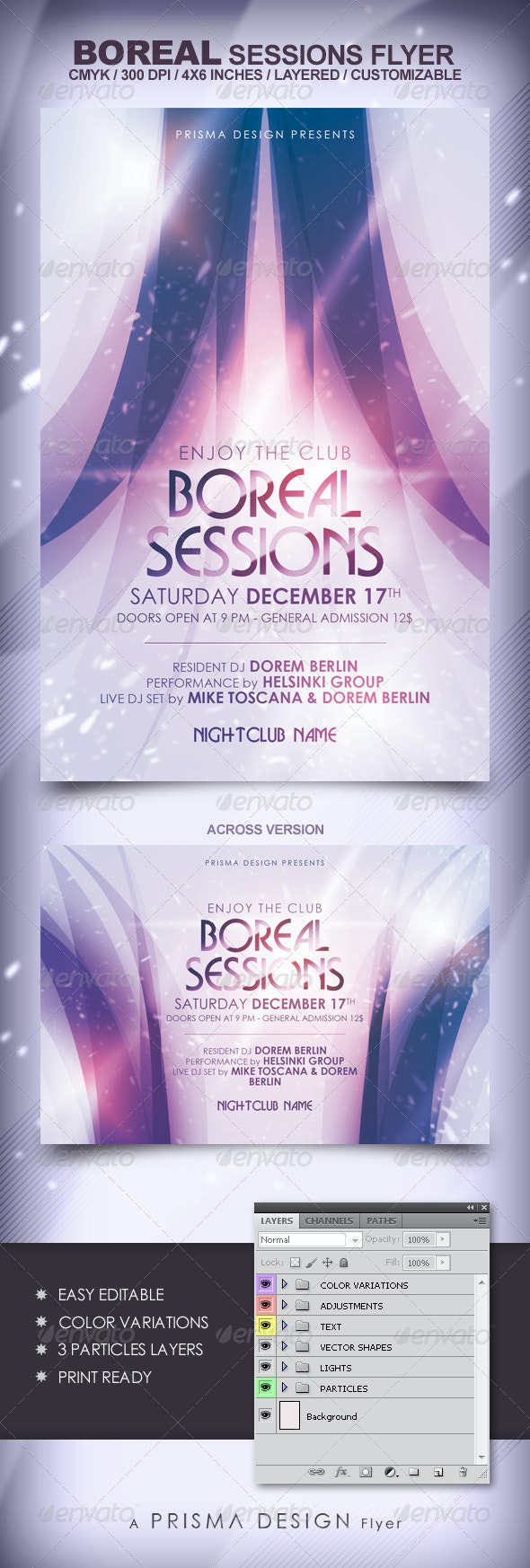 Boreal Sessions Flyer - Clubs & Parties Events