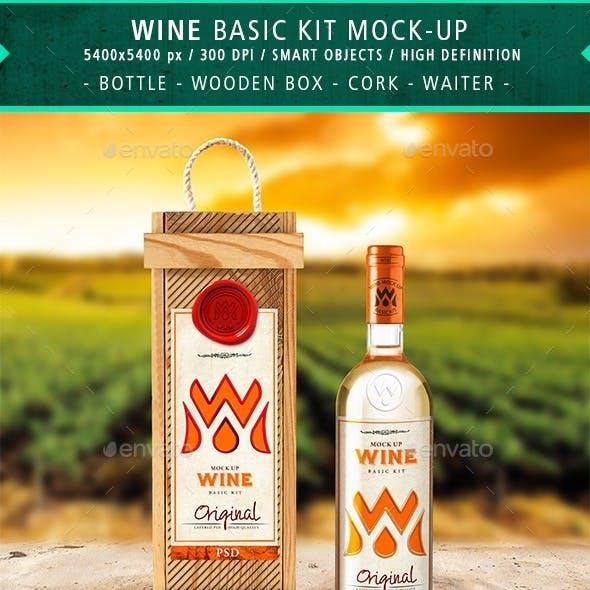 Wine Branding Basic Kit Mock-up