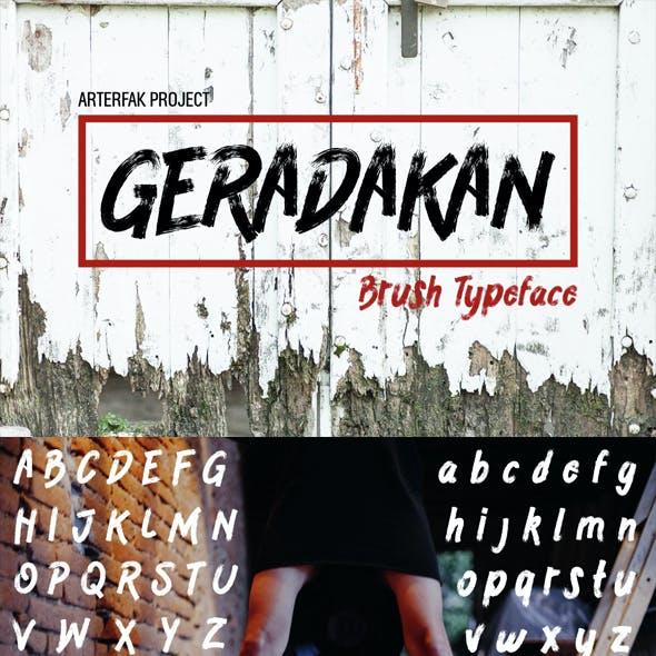 Geradakan Typeface