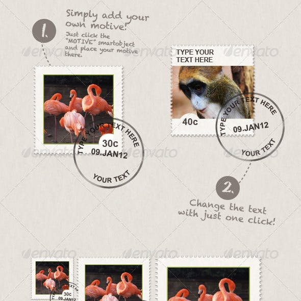 Stamps With Your Own Motive and Text