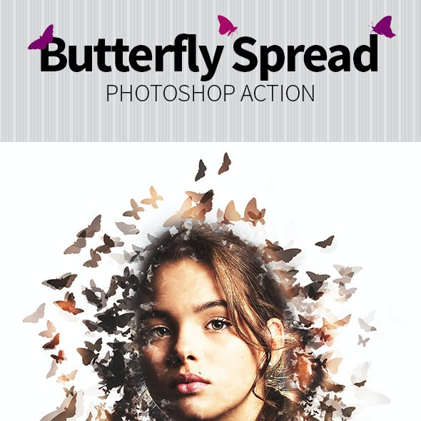 Butterfly Spread Photoshop Action