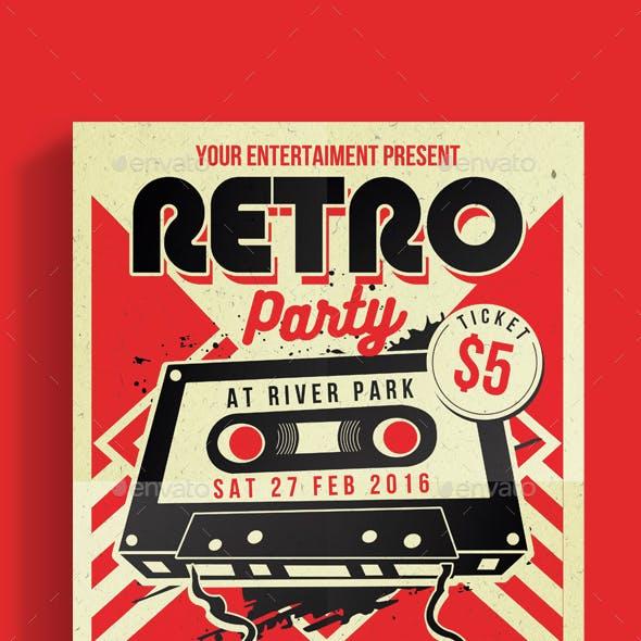 Retro Music Party Cassette