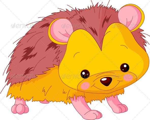 Fun zoo. Hedgehog - Animals Characters