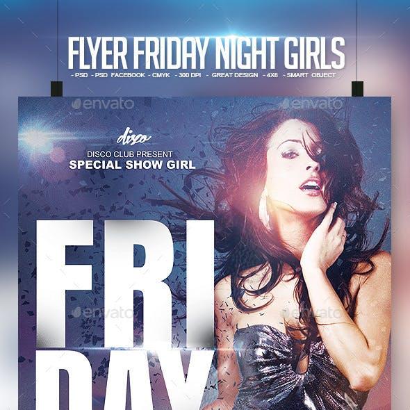 Flyer Friday Night Girls