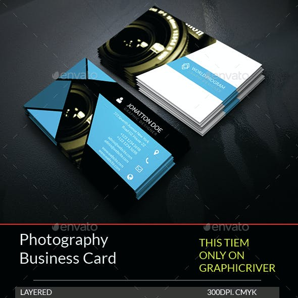 Photography Business Card Template.238