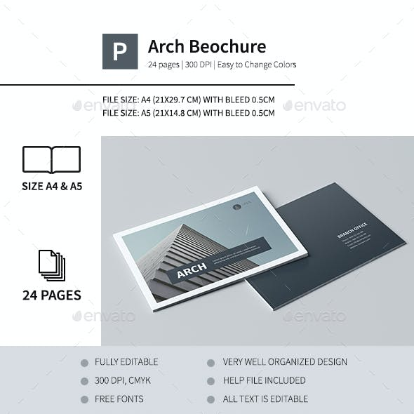 Modern Architecture Brochure 24 Pages A4 & A5